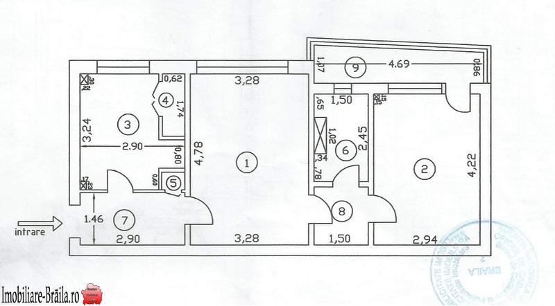 Apartament de vânzare două camere Brăila - Hipodrom.